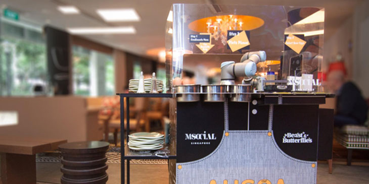 Egg-cooking robots take up service at Millennium hotels in Singapore